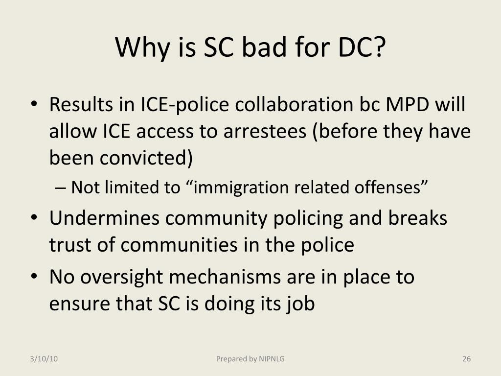 Why is SC bad for DC?
