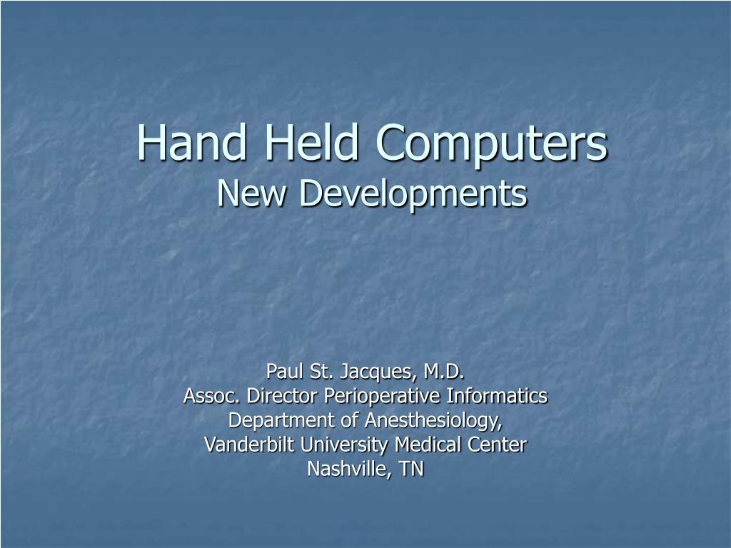 hand held computers new developments l.