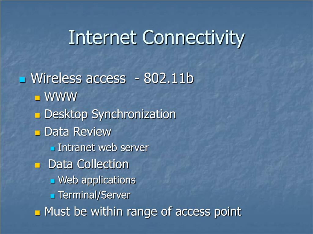 Internet Connectivity