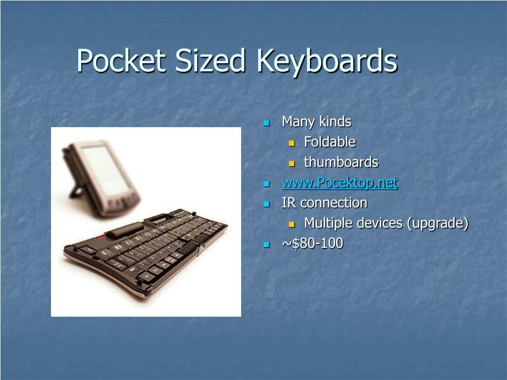 Pocket Sized Keyboards