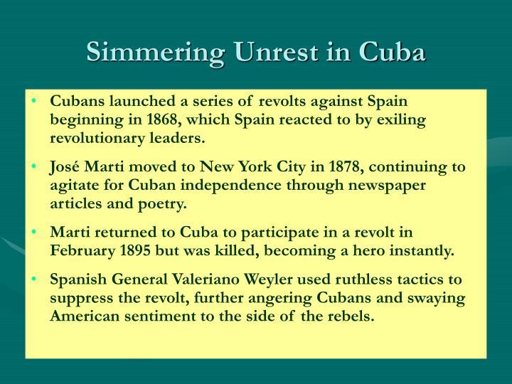 Simmering unrest in cuba