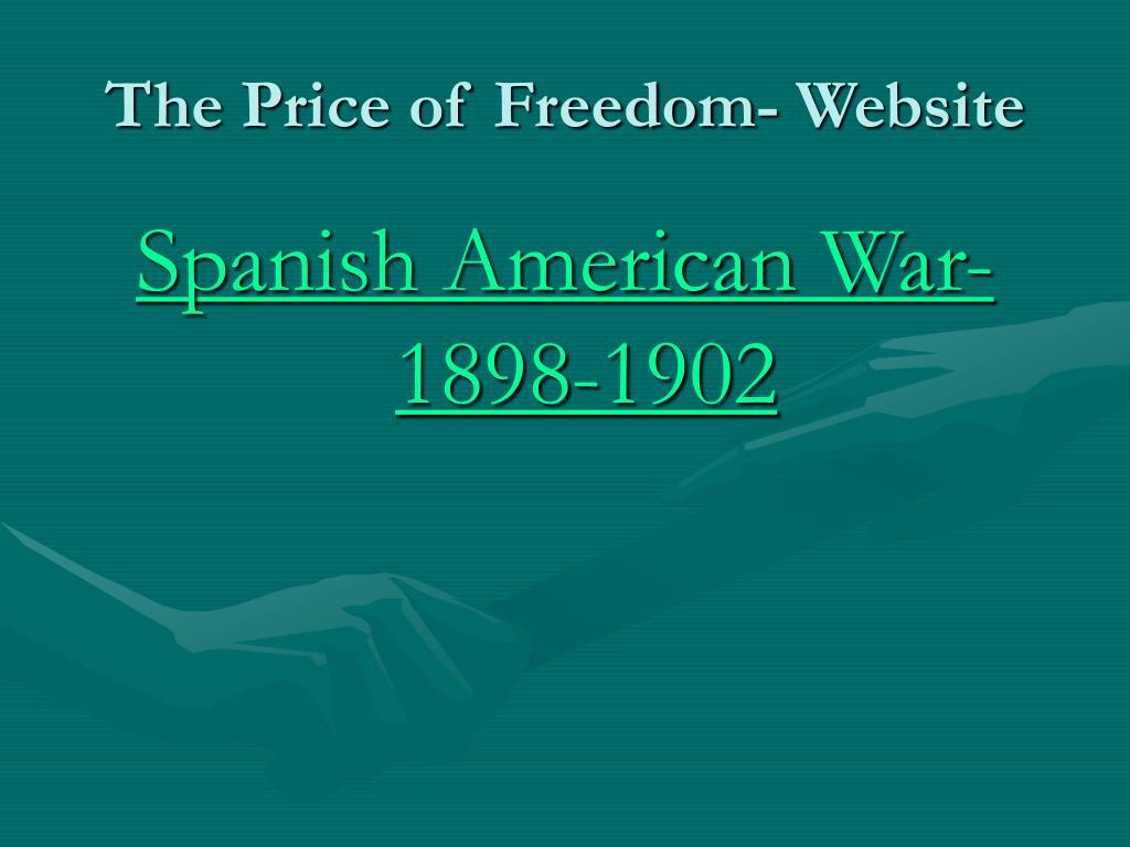 The Price of Freedom- Website