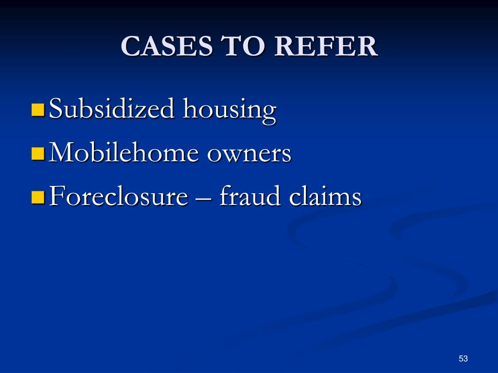 CASES TO REFER