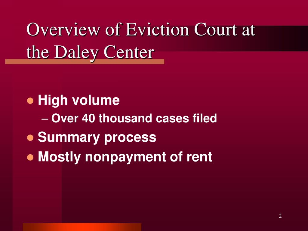 Overview of Eviction Court at the Daley Center
