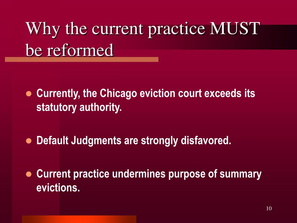 Why the current practice MUST be reformed