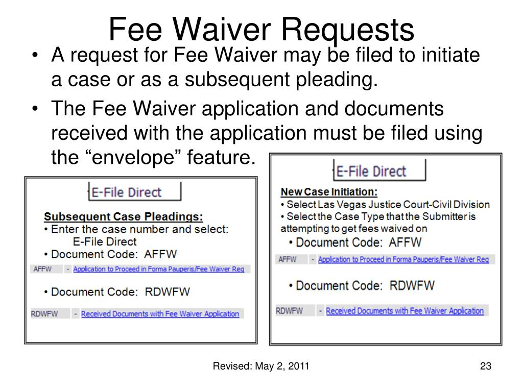 Fee Waiver Requests