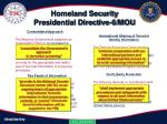homeland security presidential directive 6 mou