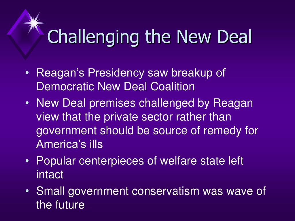 Challenging the New Deal