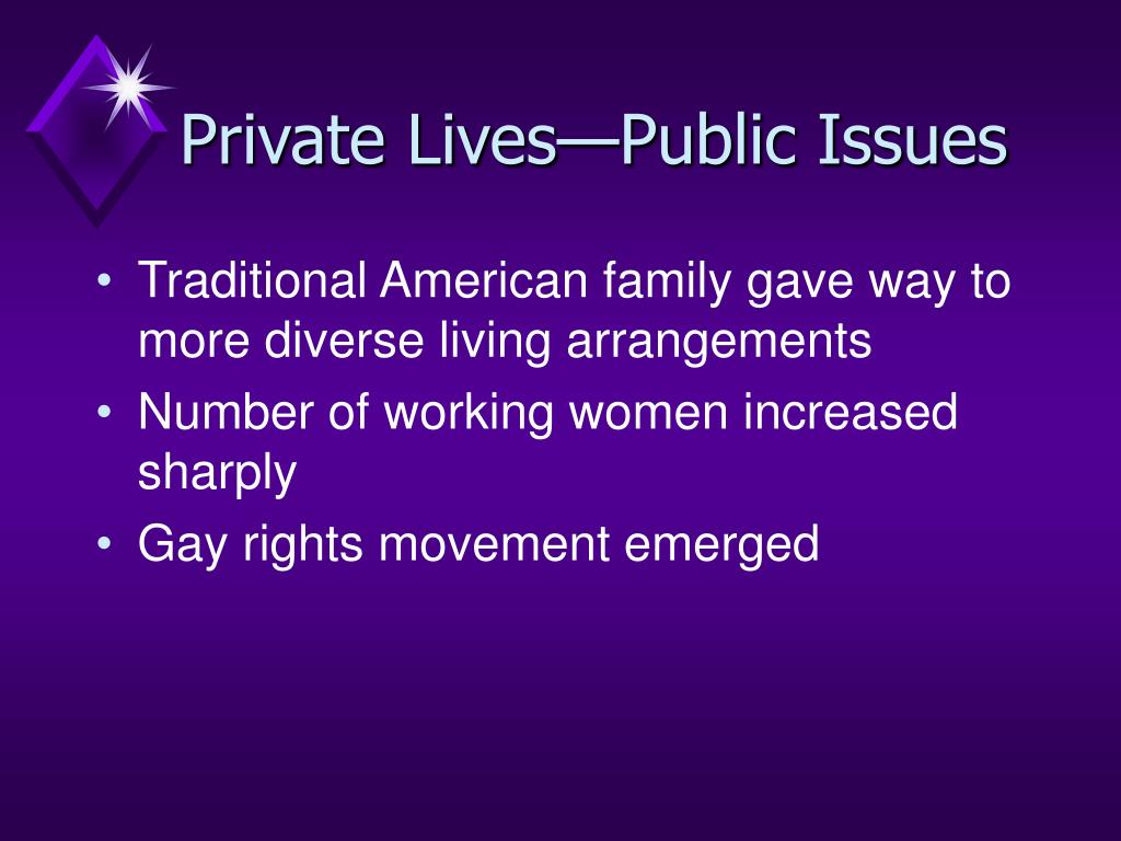 Private Lives—Public Issues
