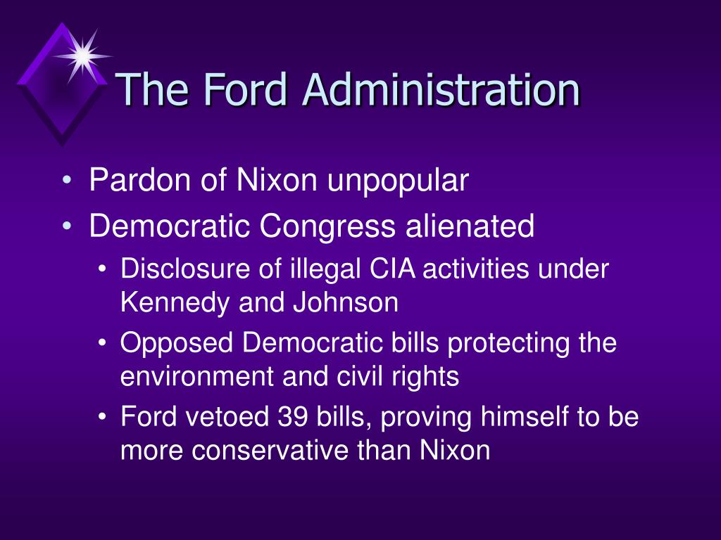 The Ford Administration