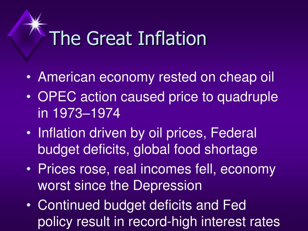The Great Inflation