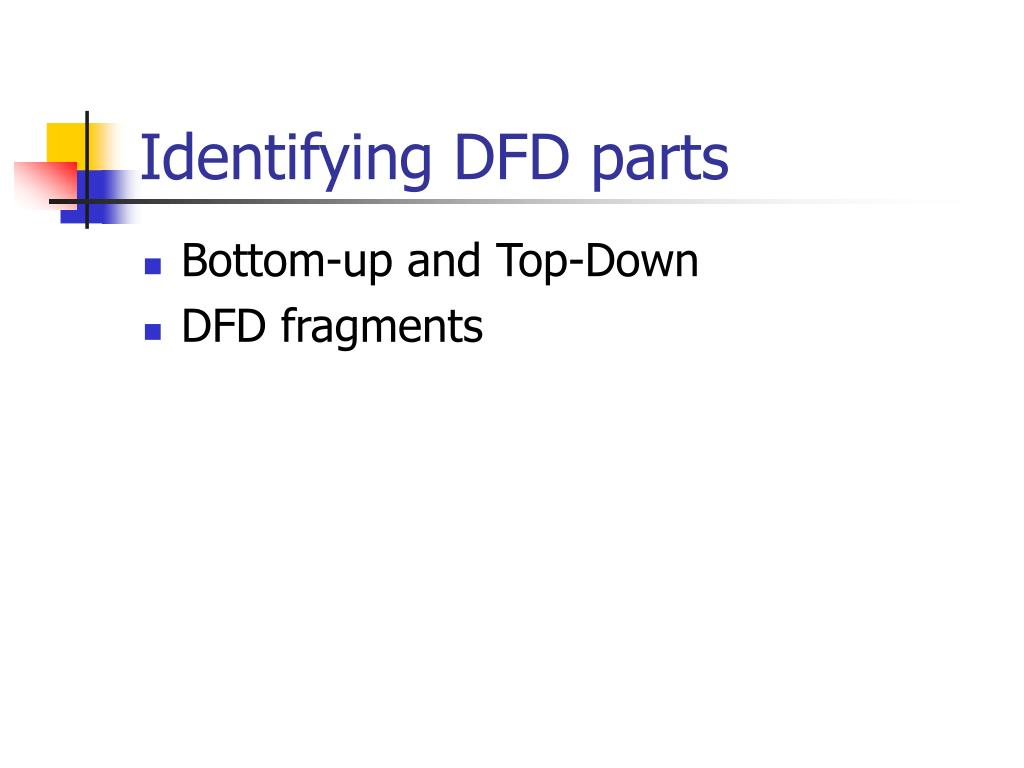 Identifying DFD parts