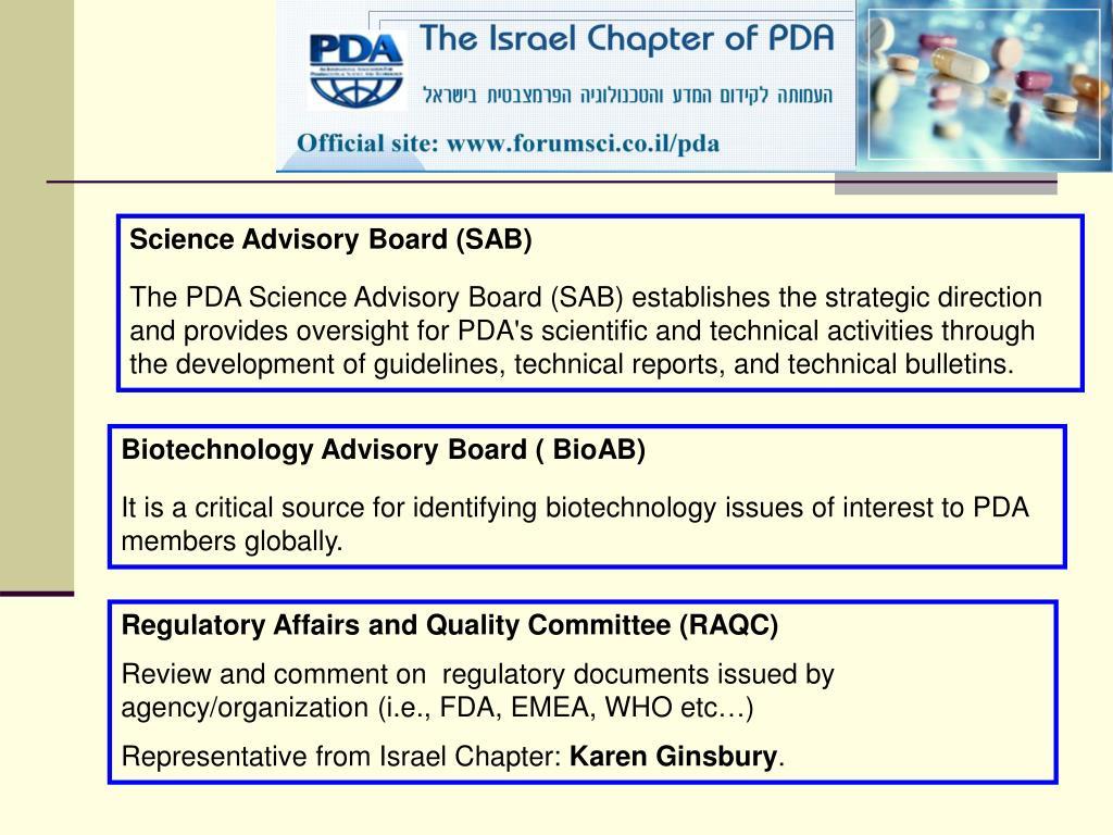 Science Advisory Board (SAB)