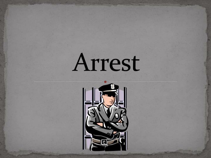 arrest n.