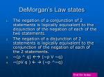 demorgan s law states