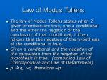 law of modus tollens17