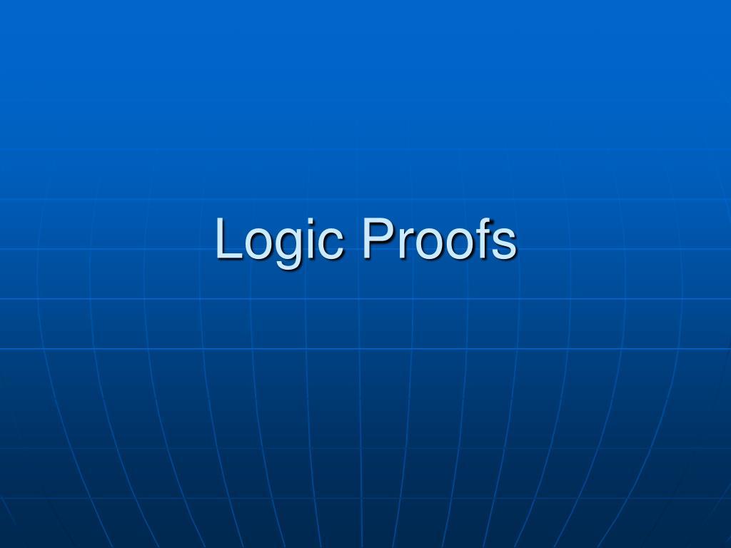 logic proofs l.