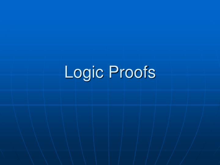 logic proofs n.