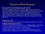 narrative work program53