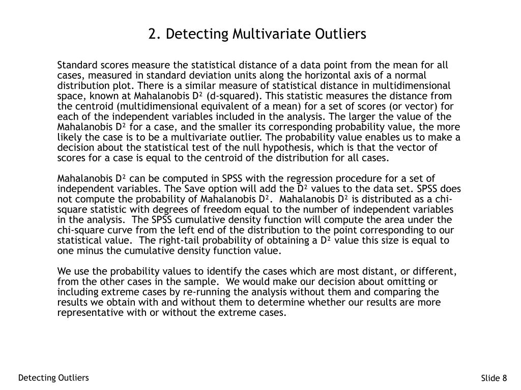 2. Detecting Multivariate Outliers