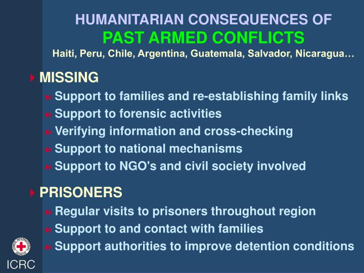 HUMANITARIAN CONSEQUENCES OF