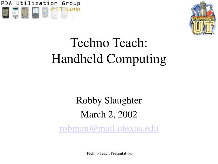 Techno teach handheld computing