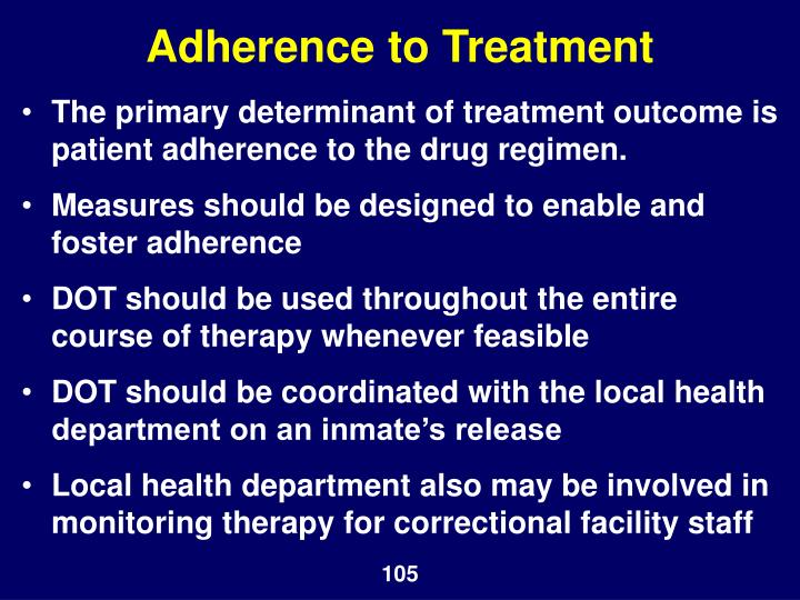 Adherence to Treatment