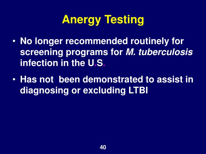 Anergy Testing