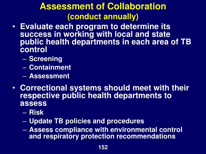 Assessment of Collaboration