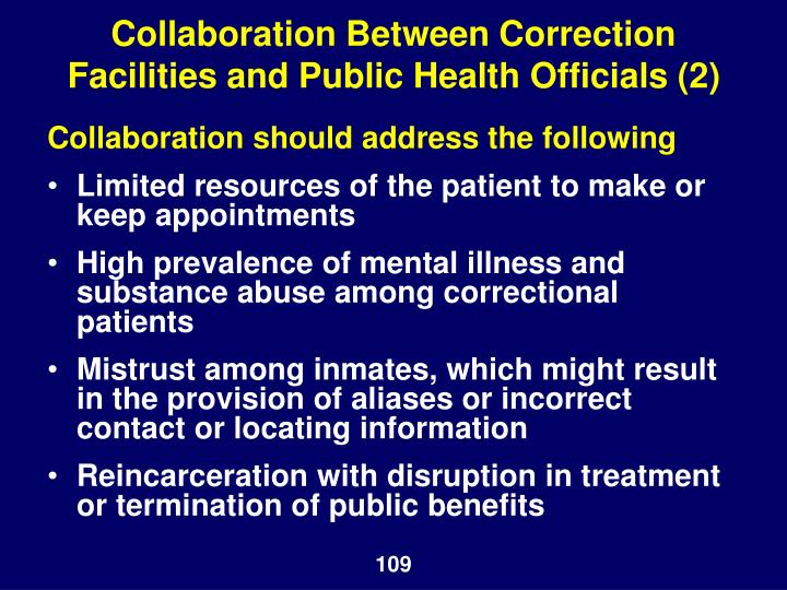 Collaboration Between Correction Facilities and Public Health Officials (2)