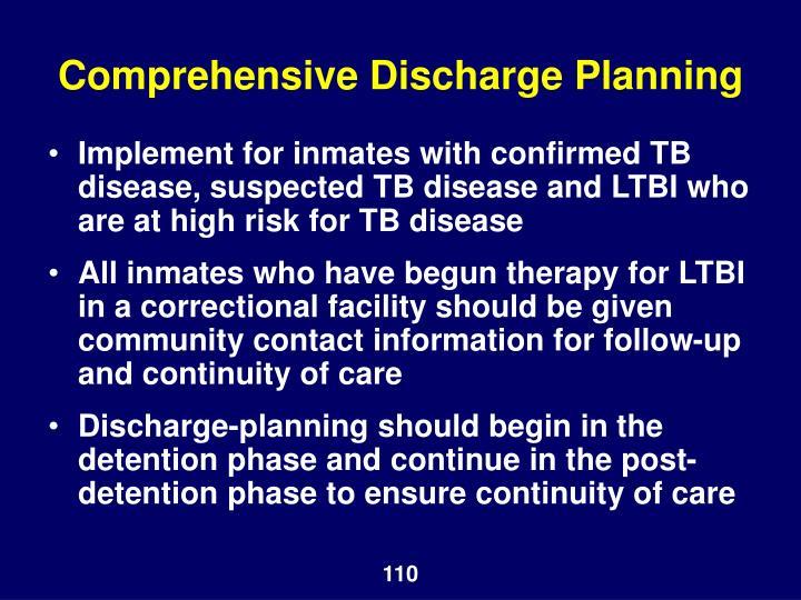 Comprehensive Discharge Planning
