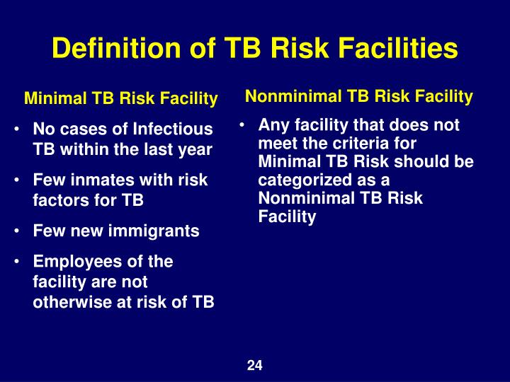 Minimal TB Risk Facility