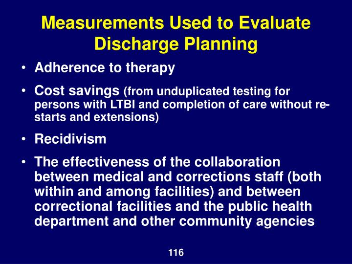 Measurements Used to Evaluate Discharge Planning