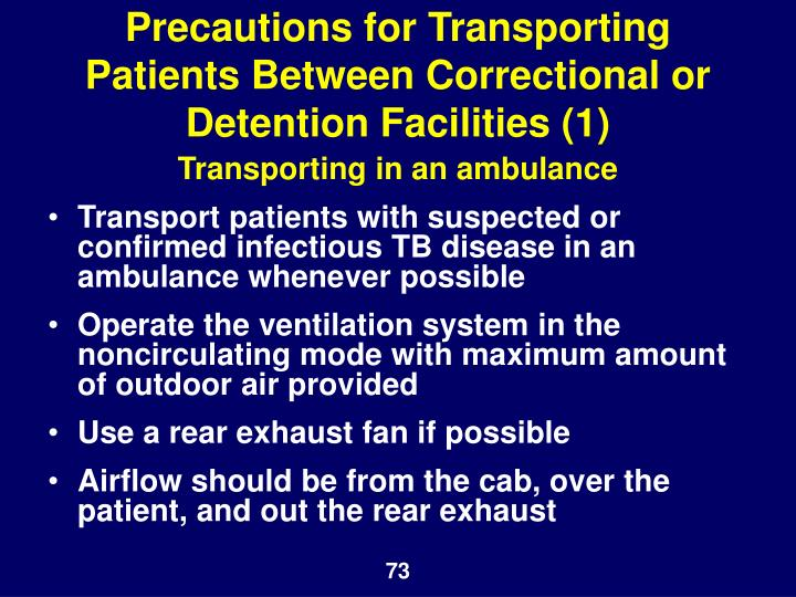 Precautions for Transporting Patients Between Correctional or Detention Facilities (1)