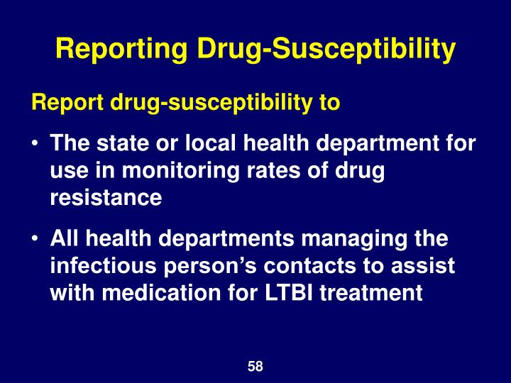 Reporting Drug-Susceptibility
