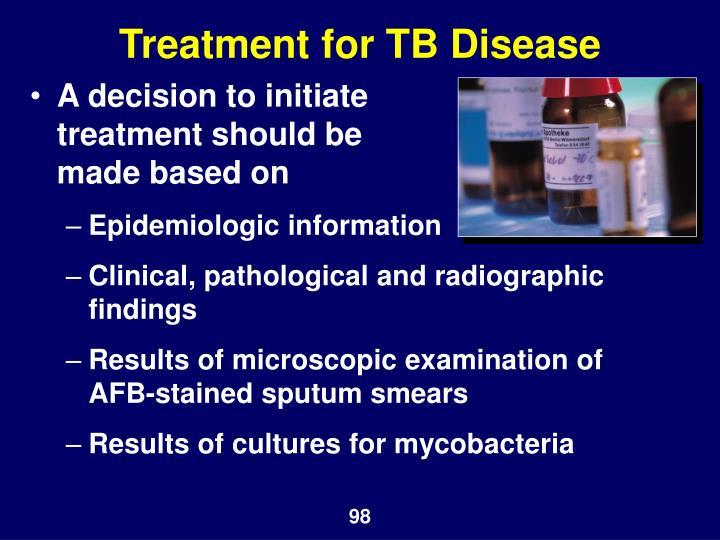 Treatment for TB Disease
