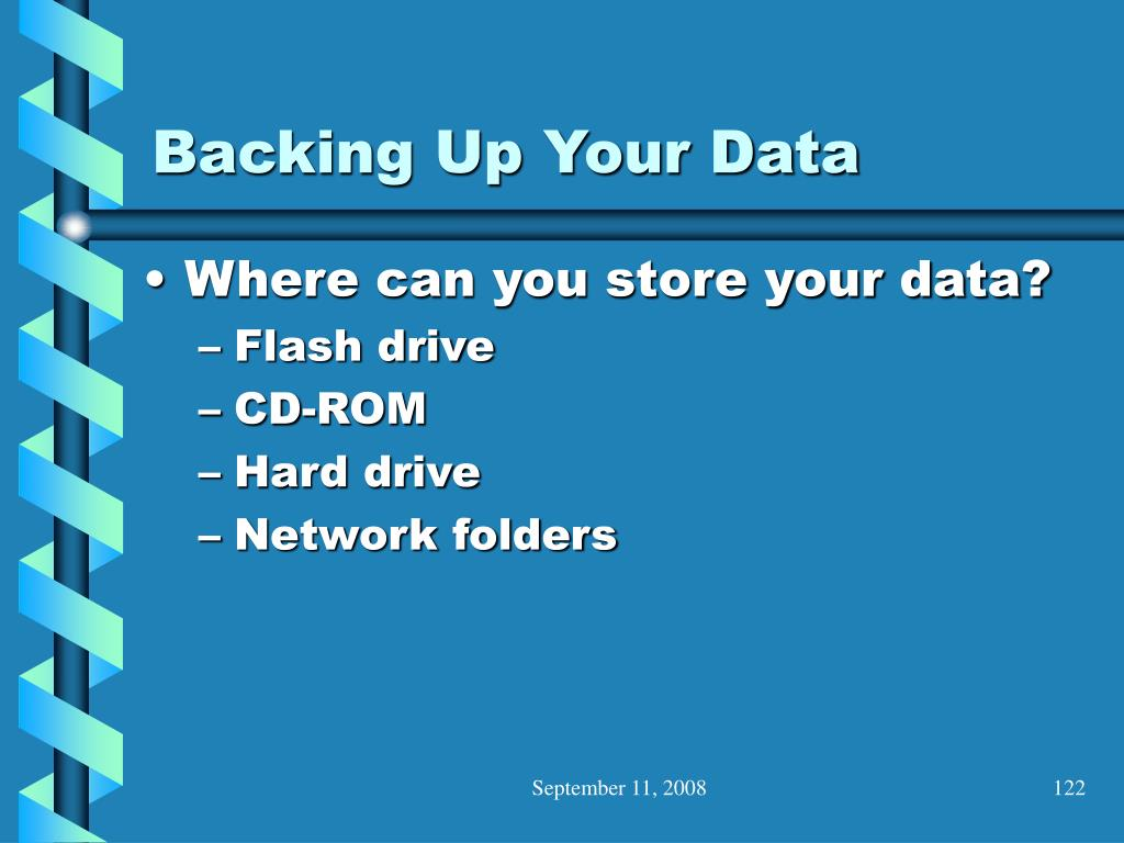 Backing Up Your Data