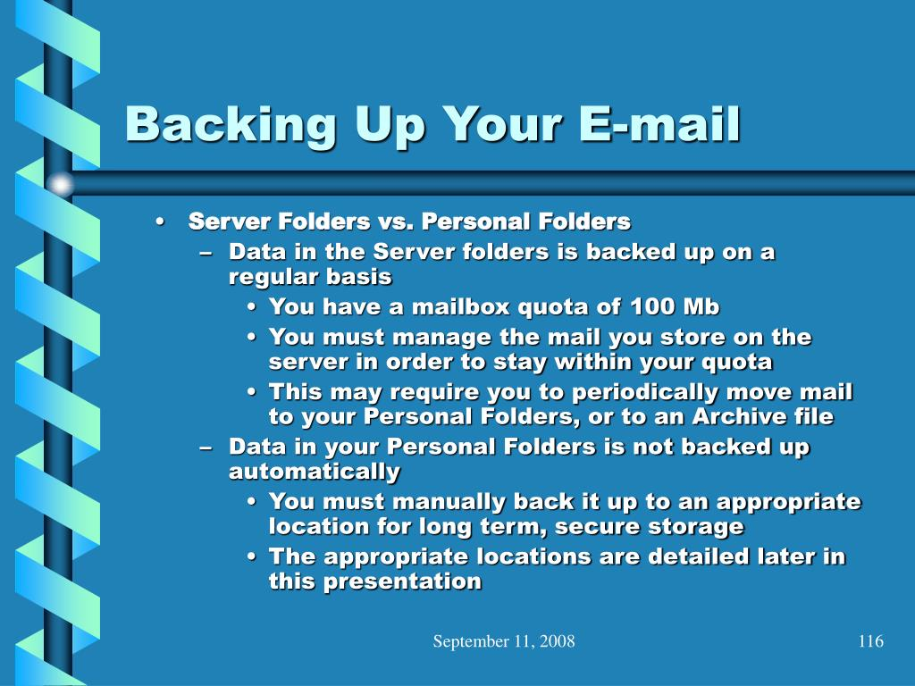Backing Up Your E-mail