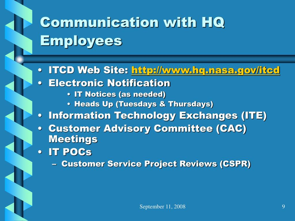 Communication with HQ Employees