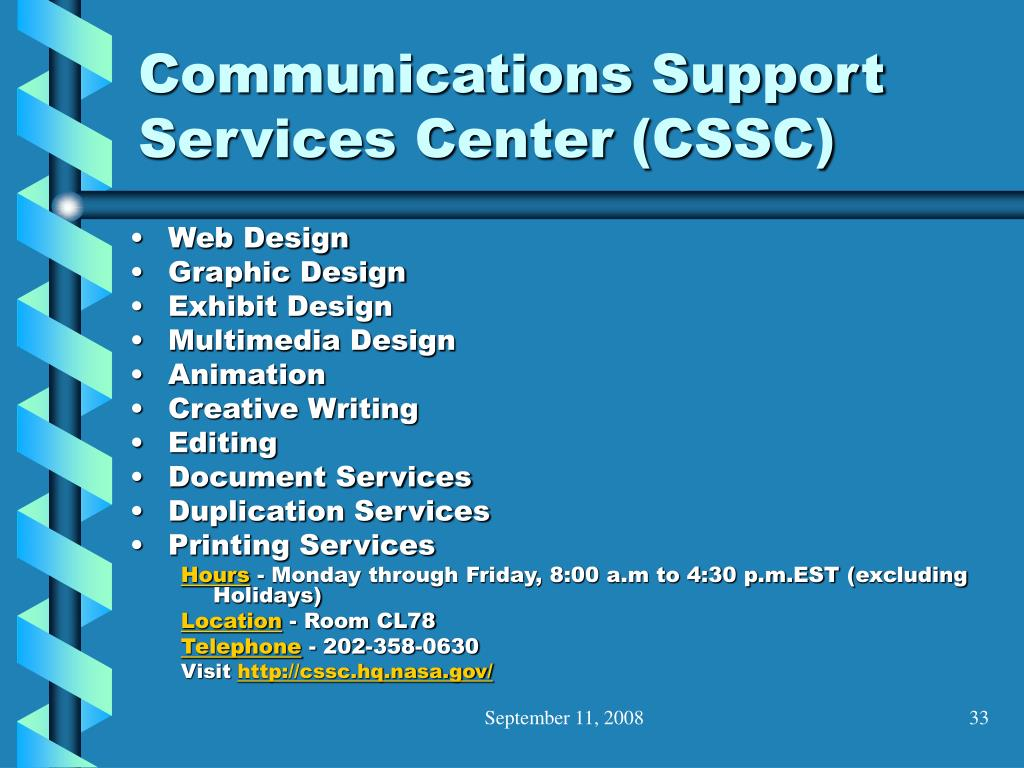 Communications Support Services Center (CSSC)