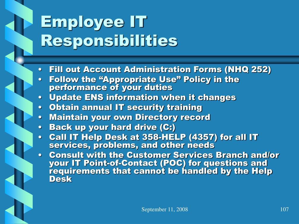 Employee IT Responsibilities
