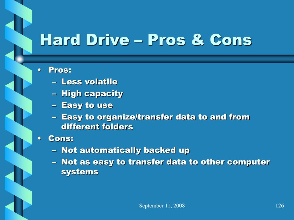 Hard Drive – Pros & Cons
