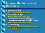 internet references and resources