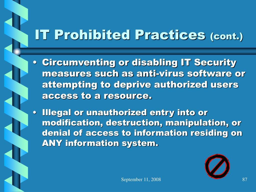 IT Prohibited Practices