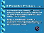 it prohibited practices cont76