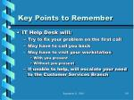 key points to remember91