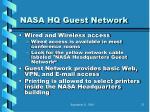 nasa hq guest network