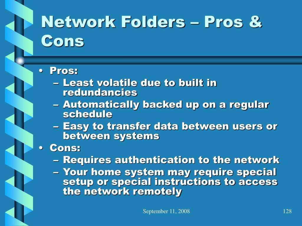 Network Folders – Pros & Cons