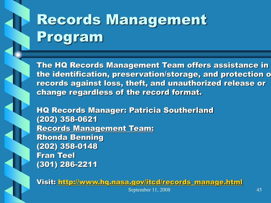 Records Management Program
