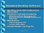 standard desktop software